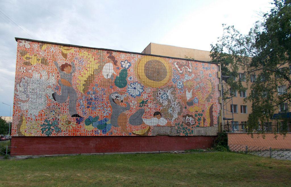 На Березняках знищили монументально-декоративне панно 60-х років