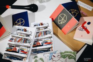 Бібліотека та художники: Жанна Кадирова, Вова Воротньов та Марія Гаврилюк оформили серію блокнотів