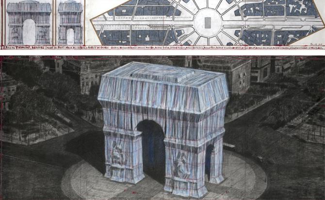 Тріумфальну арку в Парижі обгорнуть тканиною