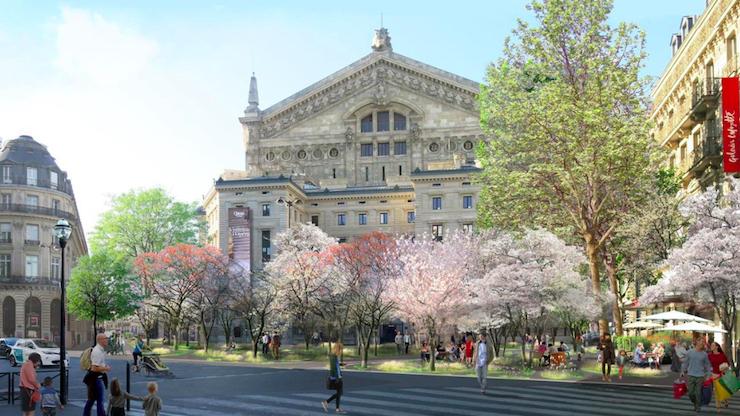 У Парижі «озеленять» території навколо культурних пам'яток