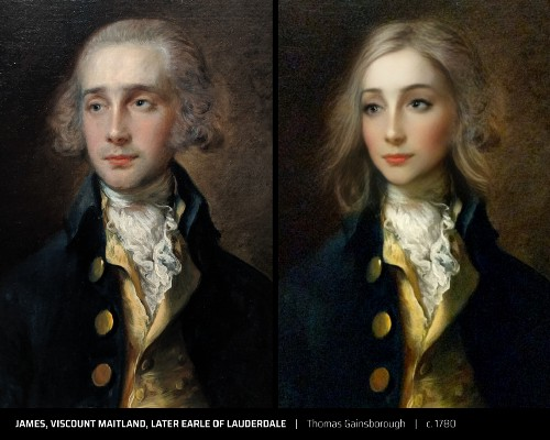 Американець представив портрети відомих художників в протилежних гендерних образах