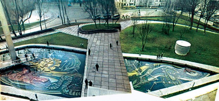 У Києві після реставрації відкрили модерністський фонтан із мозаїками