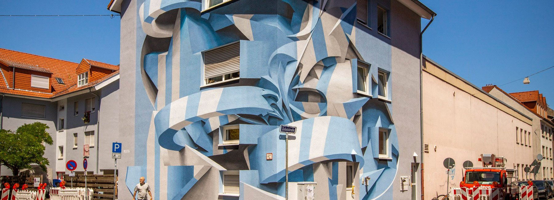 Художник перетворив фасад будинку на мурал