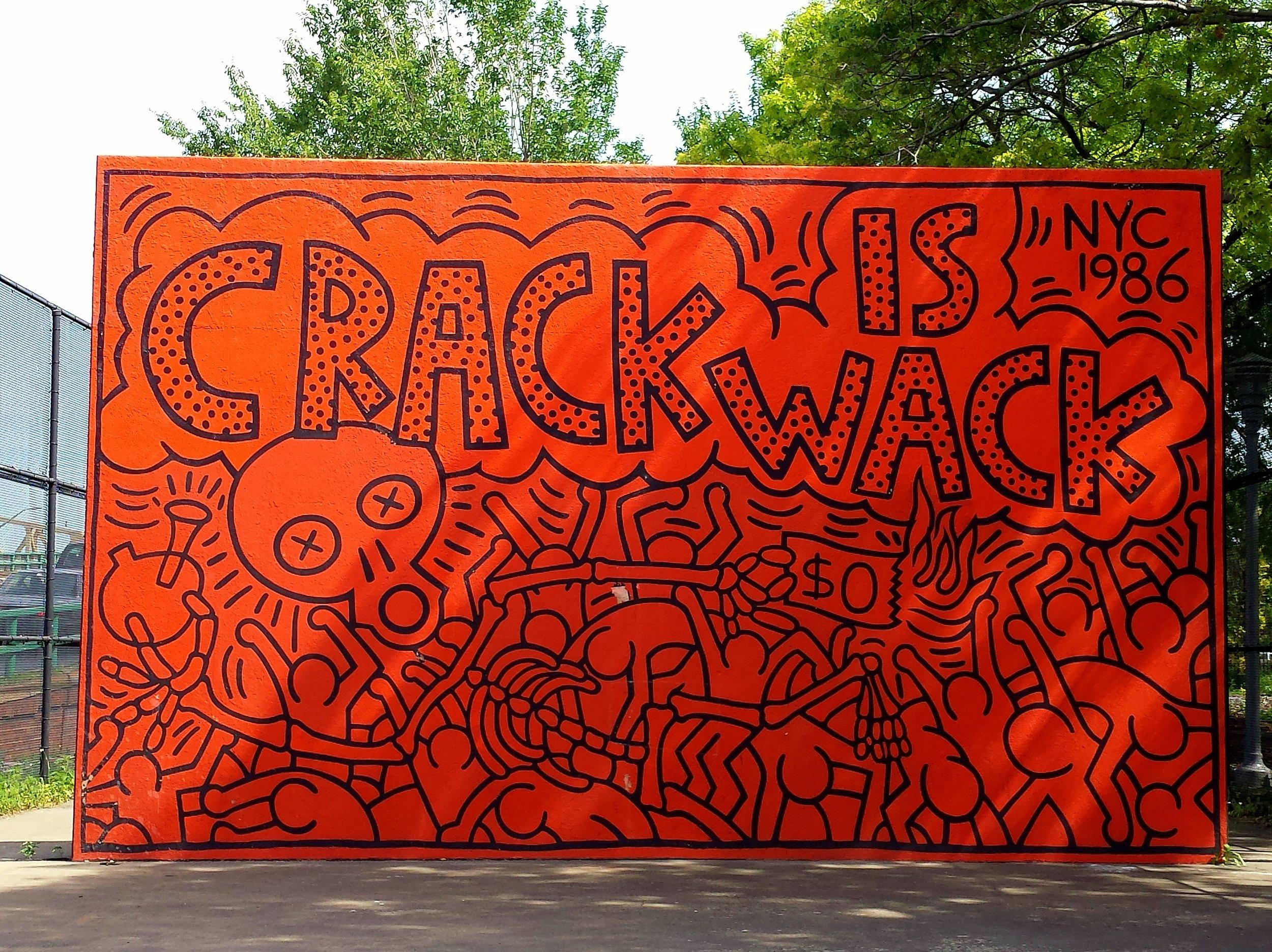 Графіті Кіта Харінга «Crack is Wack» відреставрують