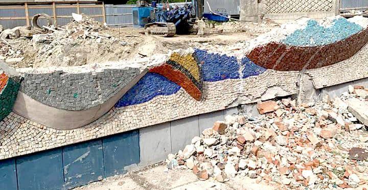 Мозаїку на будівлі магазину «Океан» відновлять