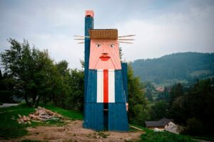 Словенський художник створив статую Дональда Трампа