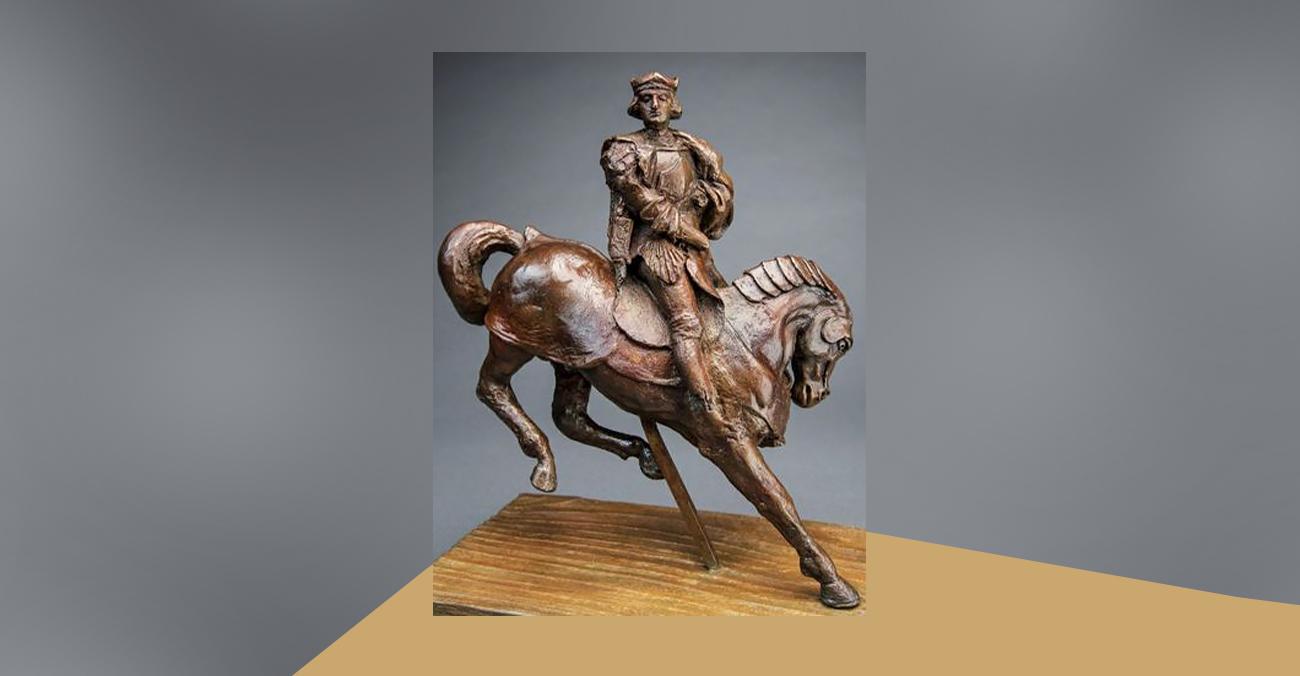 На аукціон виставлена бронзова статуетка з підписом приписувана Леонардо да Вінчі
