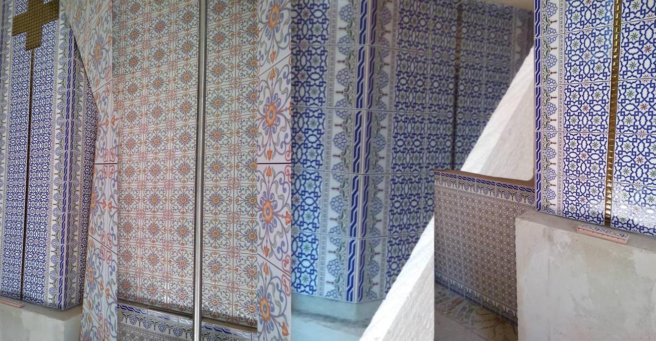 У Славському храмі фрески замінили на кухонні плити