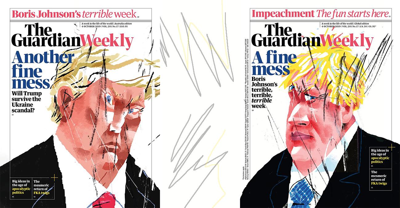 Сергій Майдуков намалював обкладинки для The Guardian Weekly