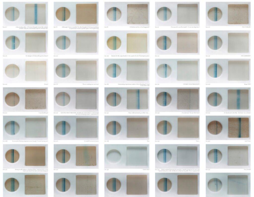 У Лондонській галереї художниця попросила 40 відвідувачів пройти тест на вагітність