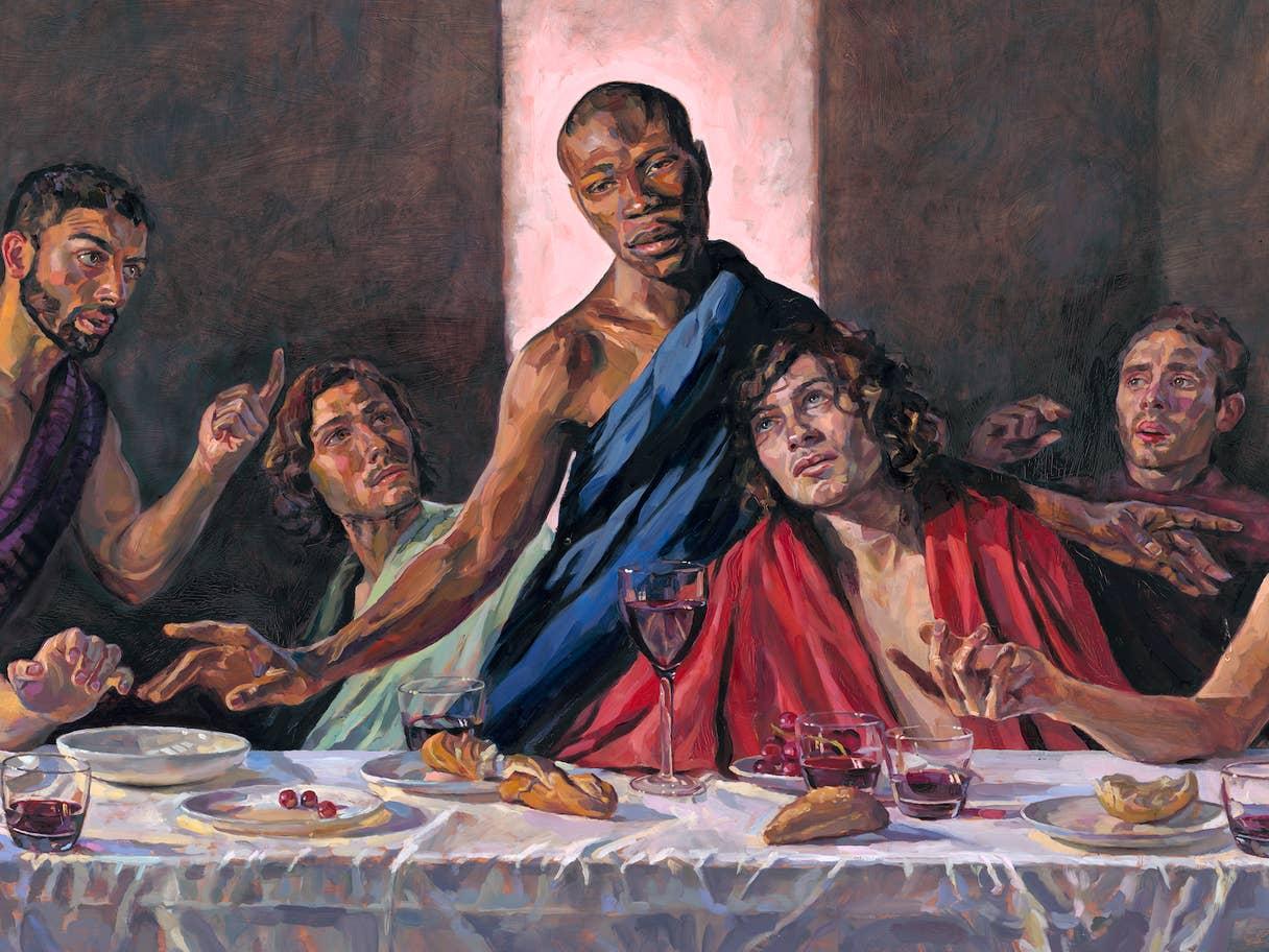 На сучасній картині «Тайна вечеря» знайшли отвори від пострілів