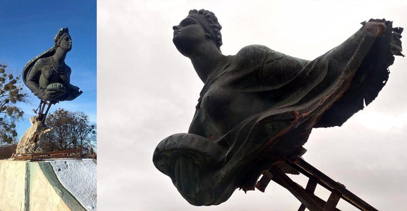 Скульптуру «Русалка Дністрова» відреставрують