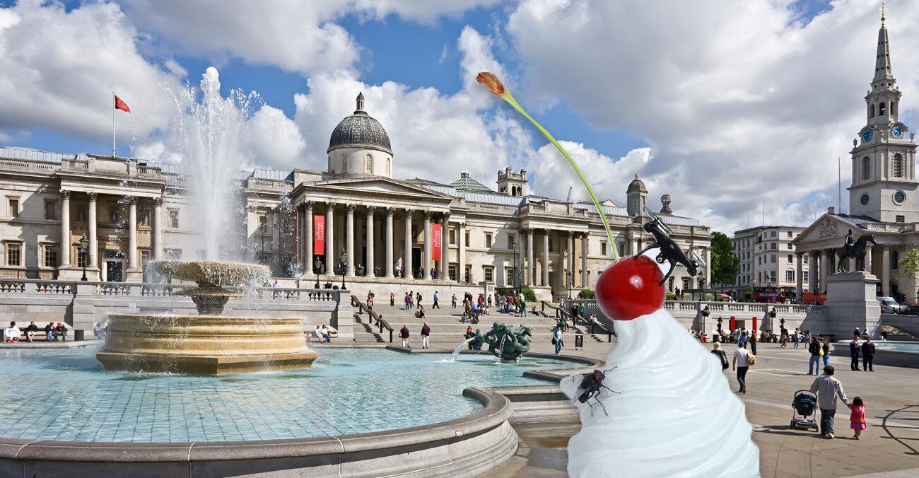 На Трафальгарській площі виставлять скульптуру збитих вершків, вишні, мухи та безпілотника