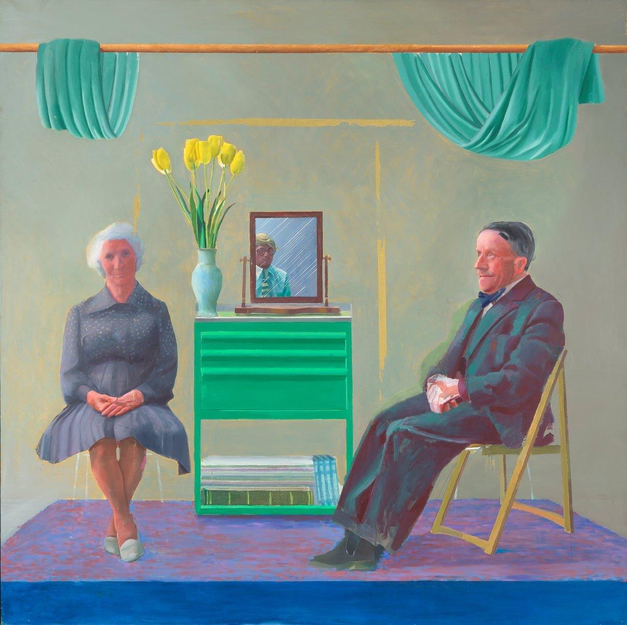 Девід Хокні показав портрет батьків, який був захований 45 років