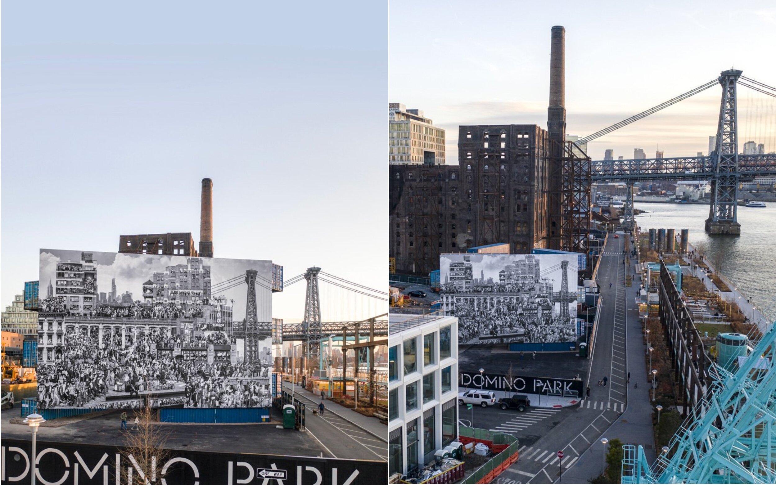Вуличний художник JR представив свою найбільшу в Нью-Йорку роботу