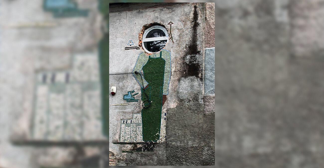 У містечку Олика зруйнували мозаїку