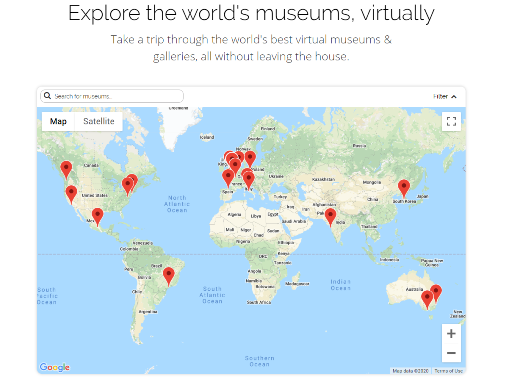 Лондонський розробник створив інтерактивну карту онлайн-музеїв