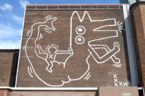 У Амстердамі відреставрують мурал Кіта Харінга