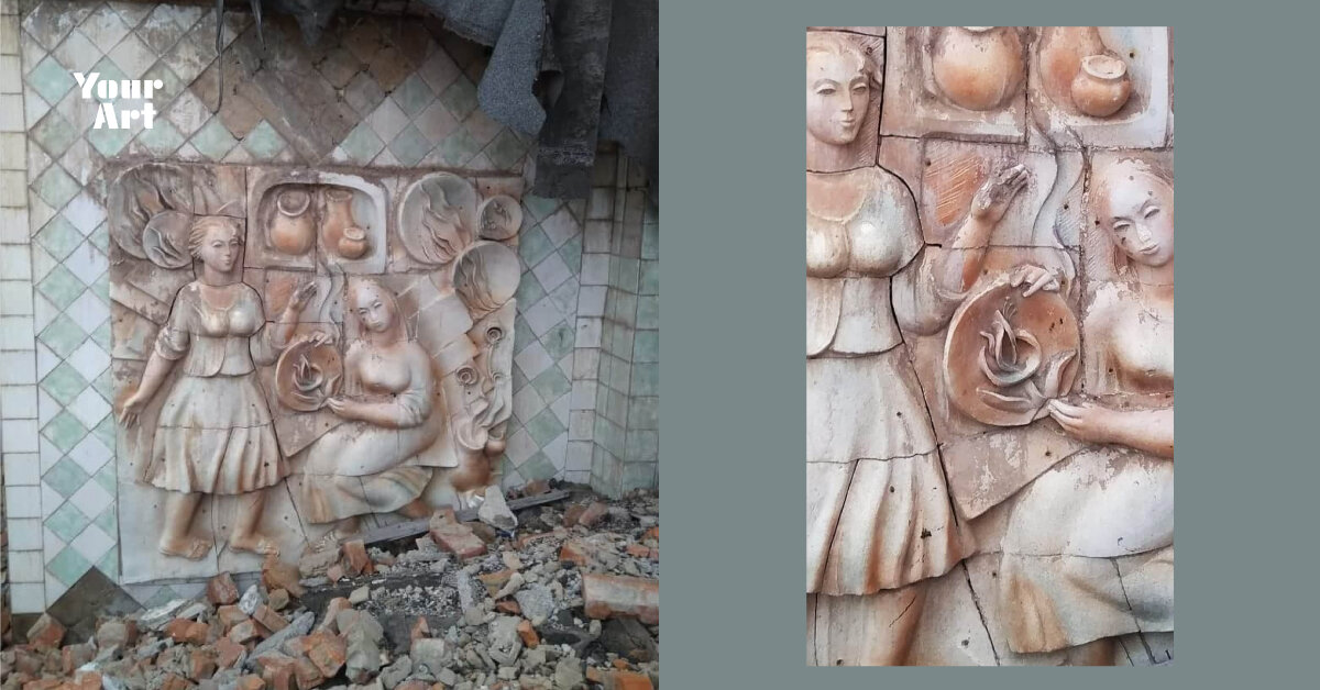 У Вінниці зруйнували керамічне панно на цегляному заводі