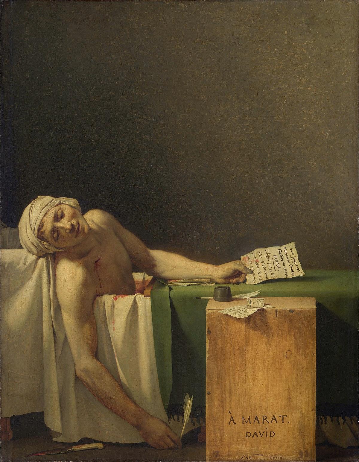 3 факти: що ви не знали про картину «Смерть Марата»