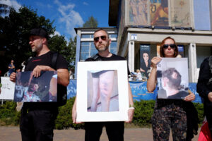 Білоруські художники провели акцію «Мистецтво режиму»
