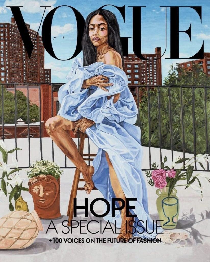 Американський Vogue залучив художників до створення обкладинки вересневого випуску