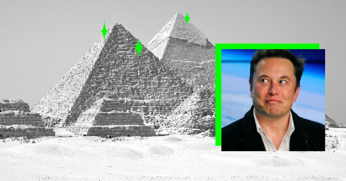 Ілон Маск написав, що єгипетські піраміди побудували прибульці
