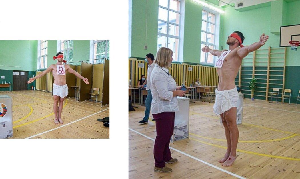 Білоруський художник намалював фалос на виборчому бюлетені