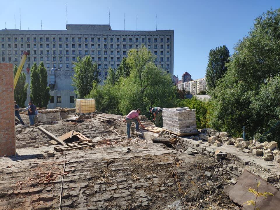 На Печерську почали реставрацію вежі Київської фортеці