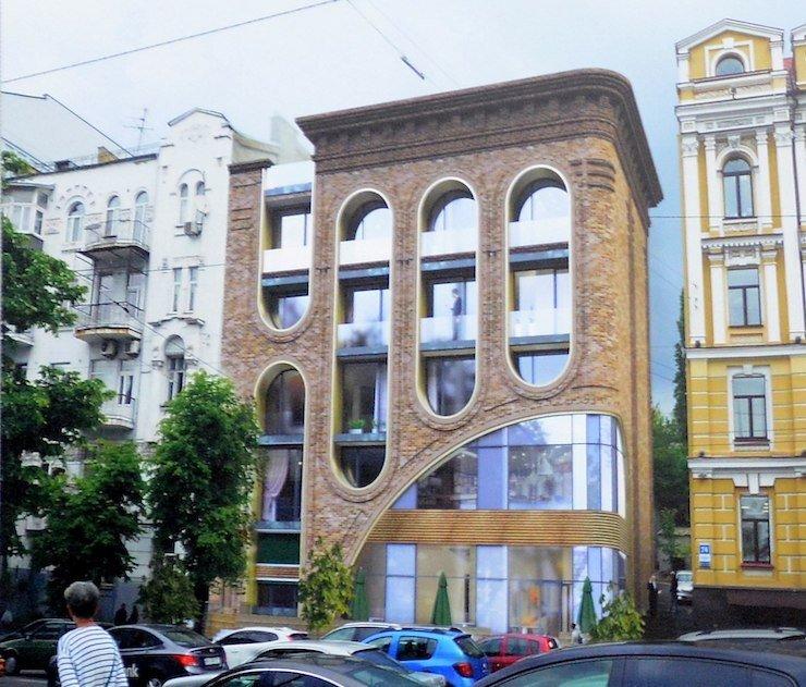 Забудовник показав, як виглядатиме будинок на місці знесеної садиби ХІХ століття на Саксаганського