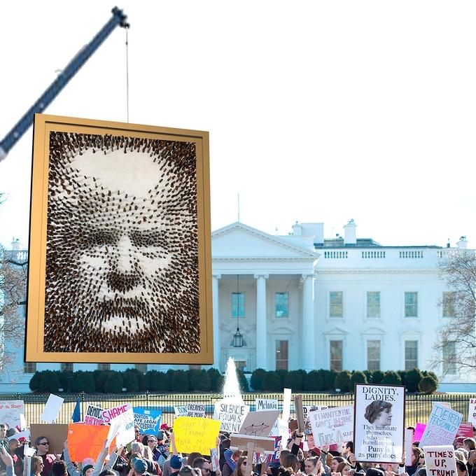 У США створили портрет Дональда Трампа з секс-іграшок