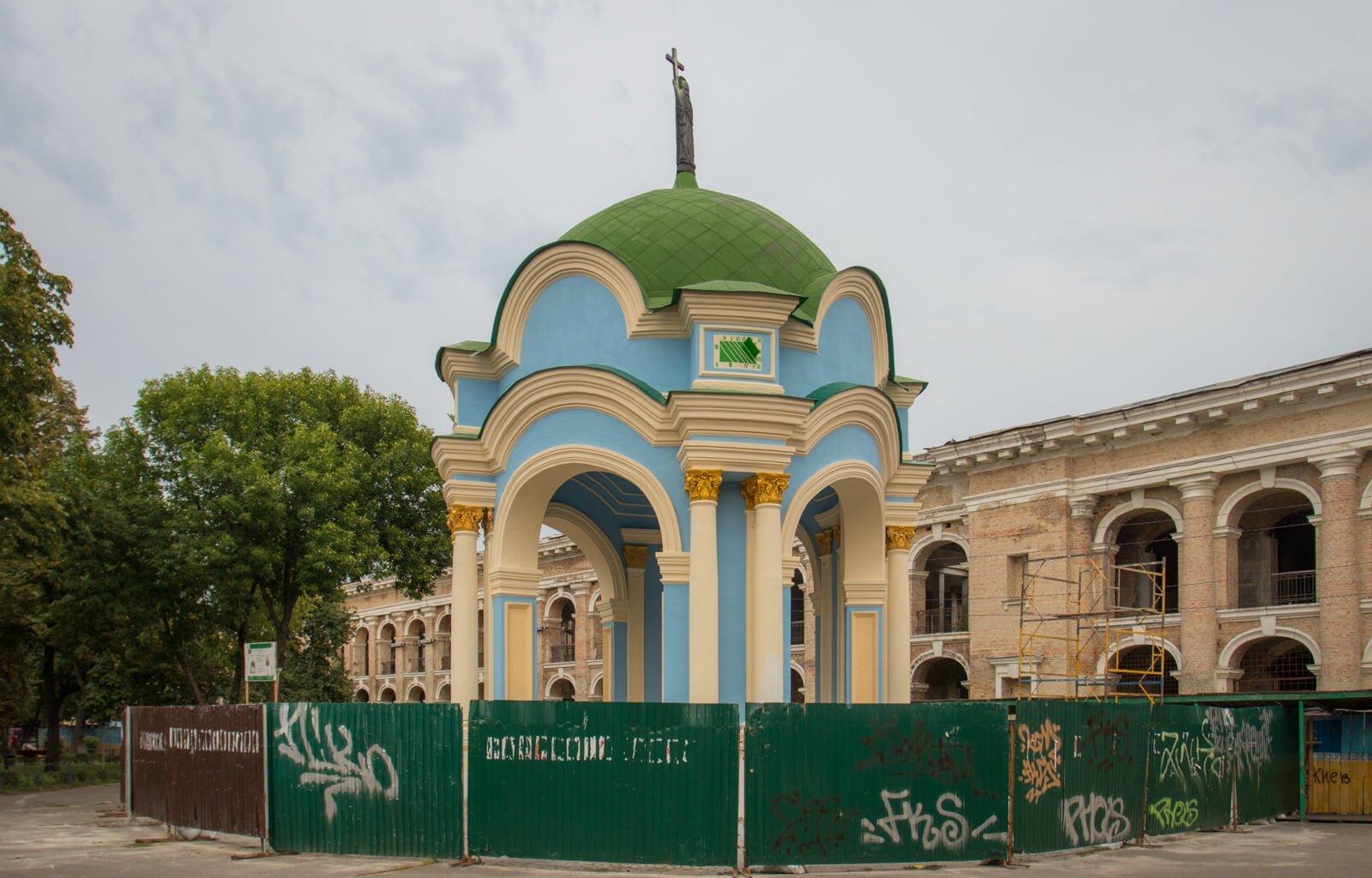 На Контрактовій площі завершують реставрацію фонтану «Самсон»