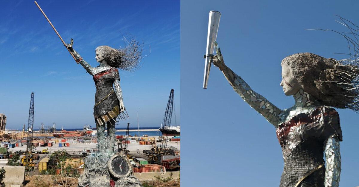 У Бейруті створили меморіал з уламків речей після вибуху
