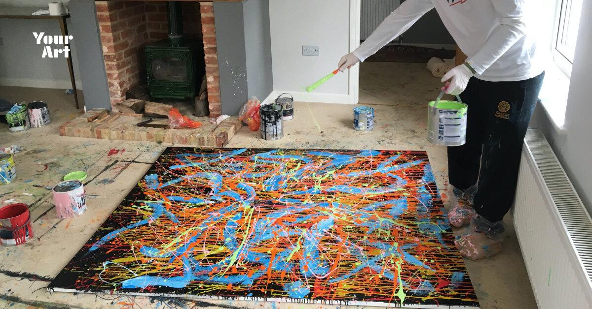 Ед Ширан почав продавати абстрактні роботи на аукціоні