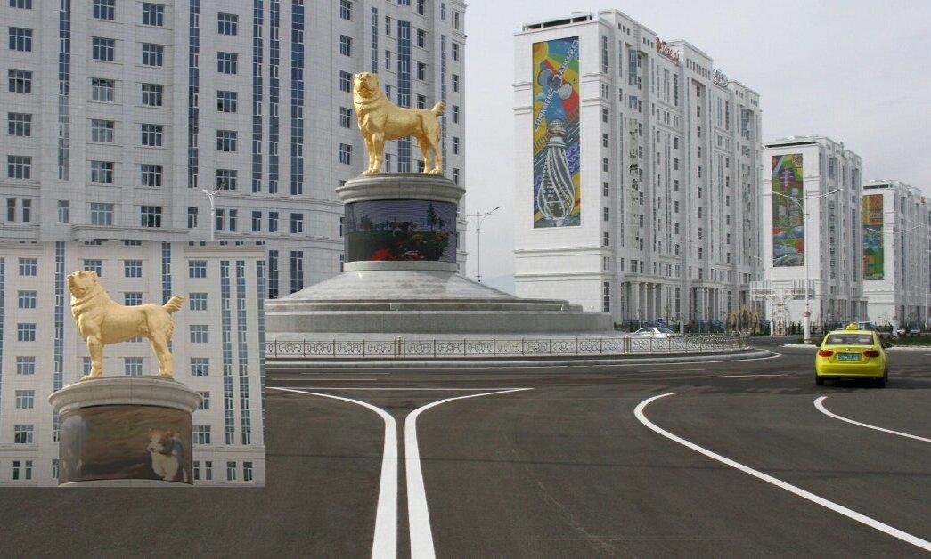 У Туркменістані відкрили пам'ятник собаці улюбленої породи президента