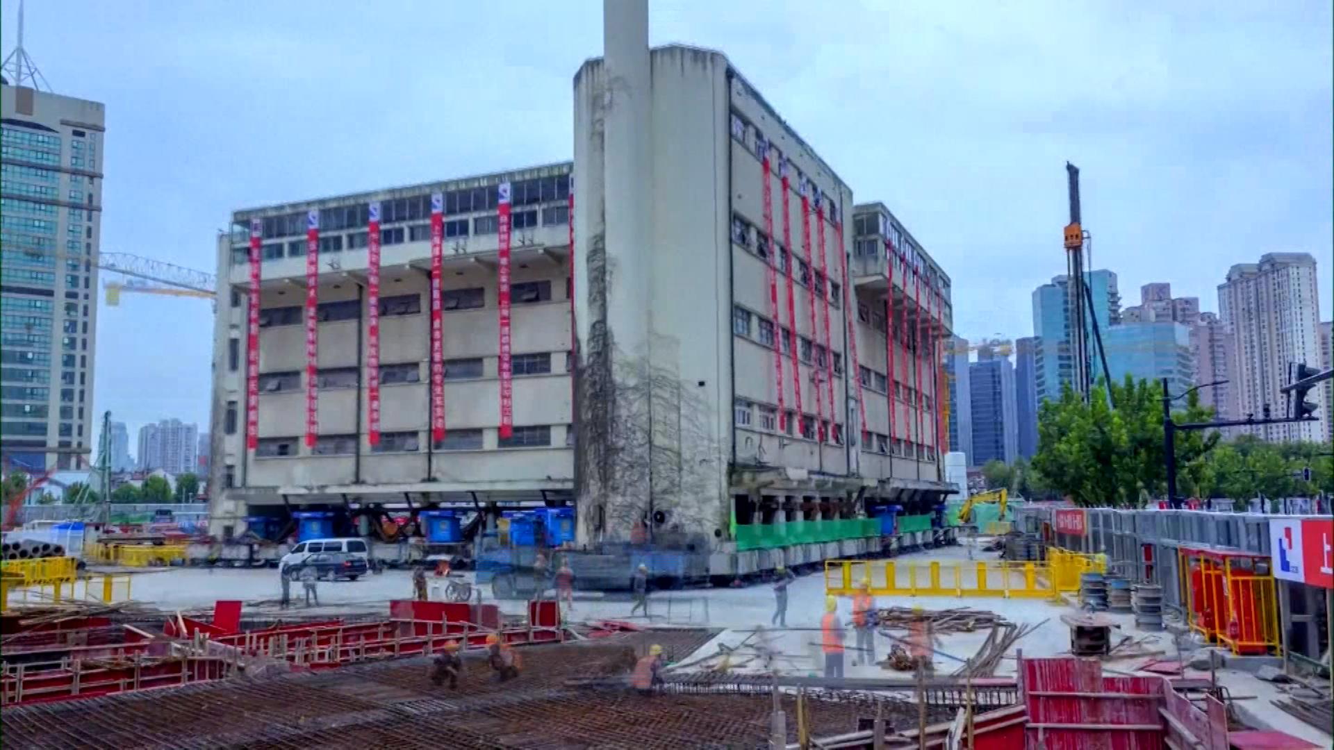 У Шанхаї пам'ятку архітектури пересунули на понад 60 метрів