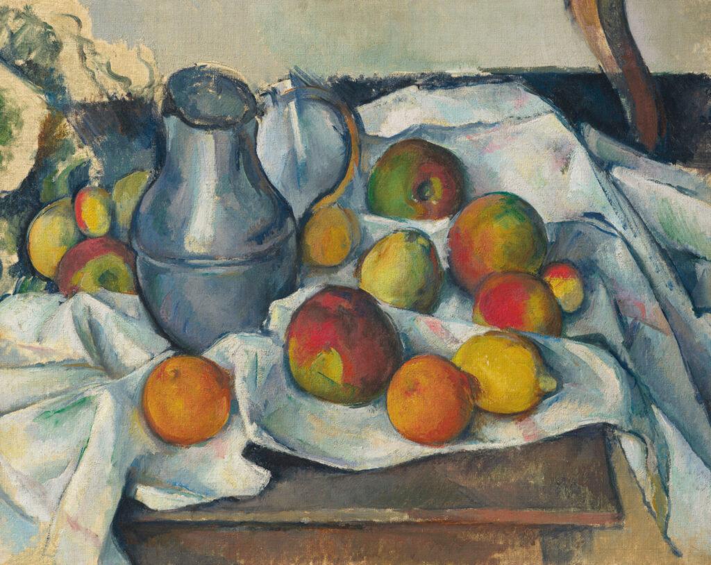 Поль Сезанн. Чайник та фрукти, 1888-1890