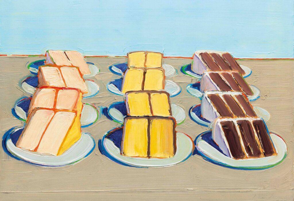 Wayne Thiebaud (b. 1920), Cake Rows, 1962.