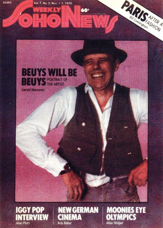 Обкладинка журналу Weekly Soho News, Листопад, 1979 'Beuys Will Be Beuys', фото з вільного джерела (Pinterest)