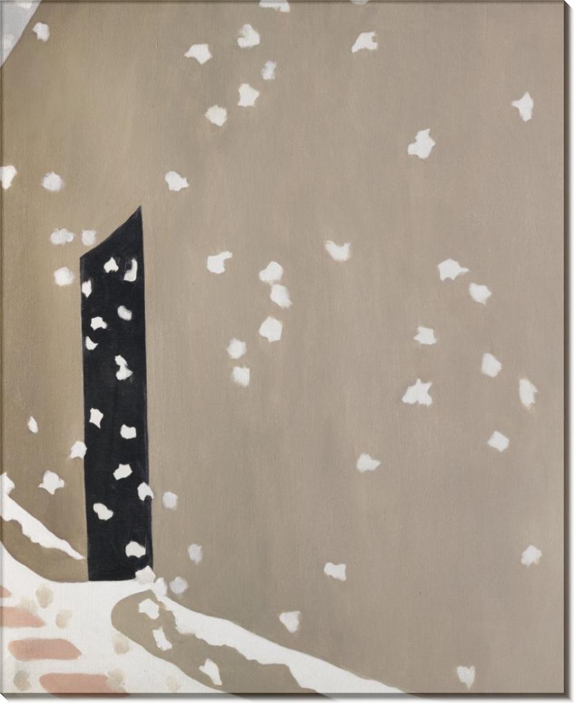 Джорджія О'Кіфф, «Чорна двері зі снігом», 1953-1955.