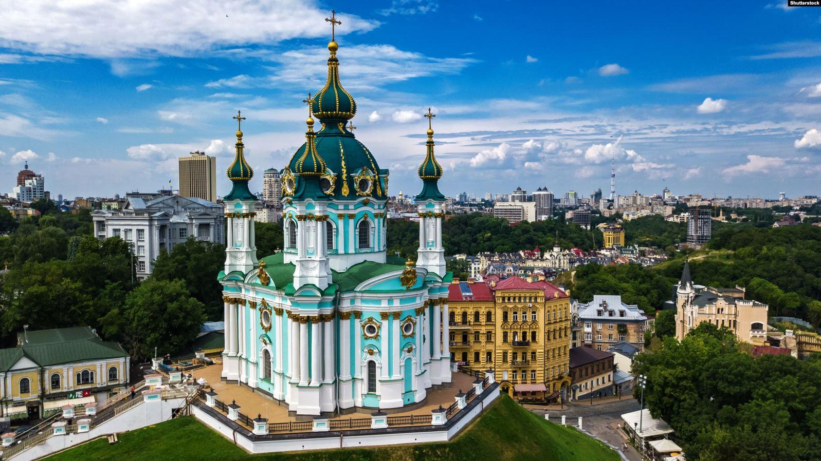 У Києві відкрили відреставровану Андріївську церкву