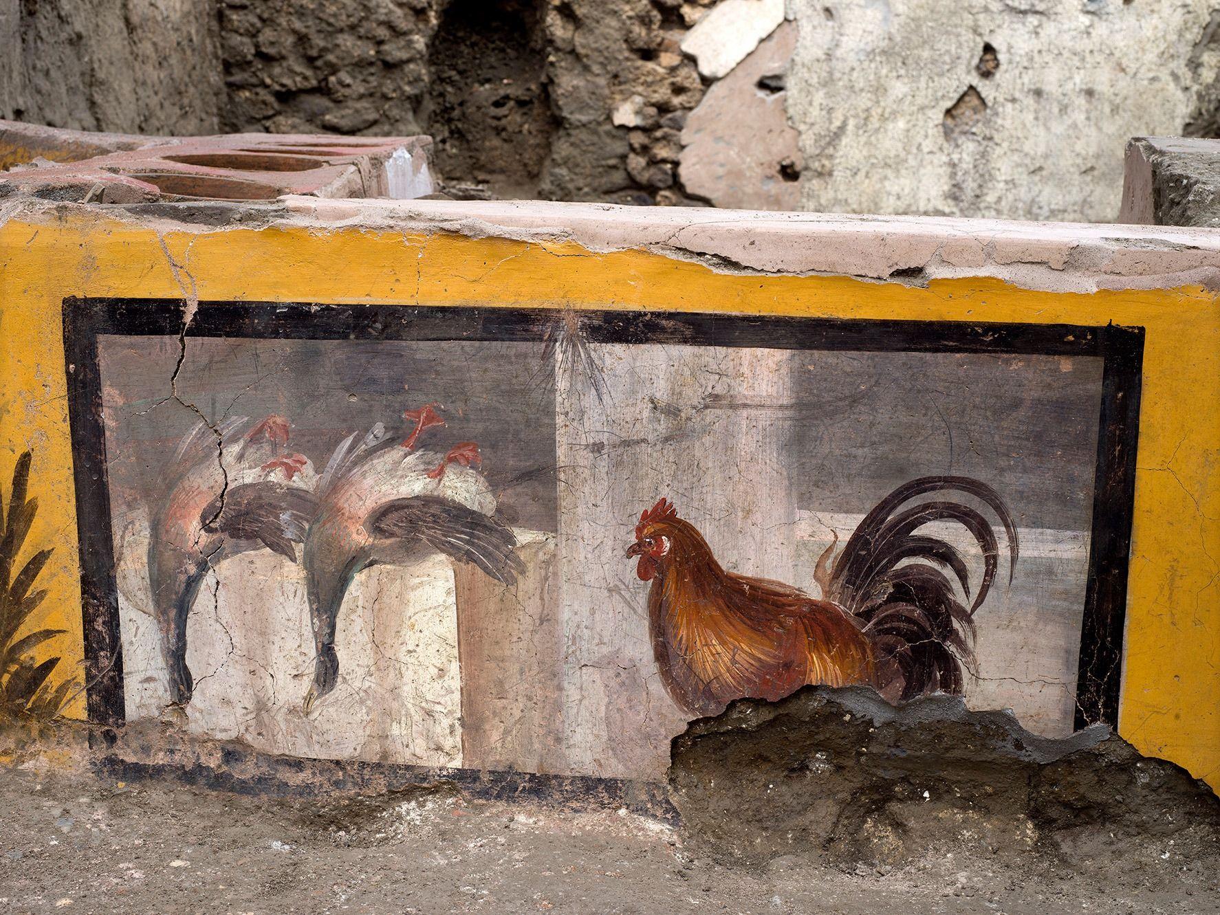 У Помпеях розкопали стародавній прилавок вуличної їжі