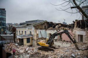 Міністерство культури: «Історичну будівлю на Протасовому Яру зруйнували без дозволу»
