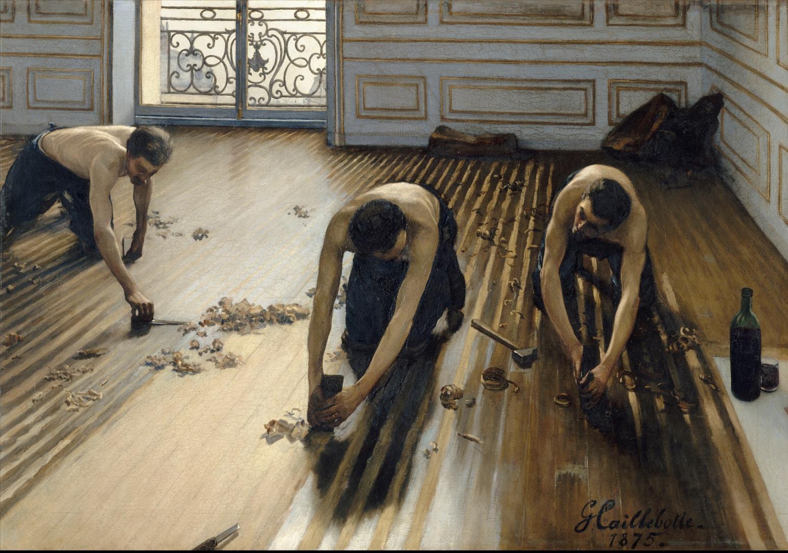 Ґюстав Кайботт,«Паркетчики», 1875