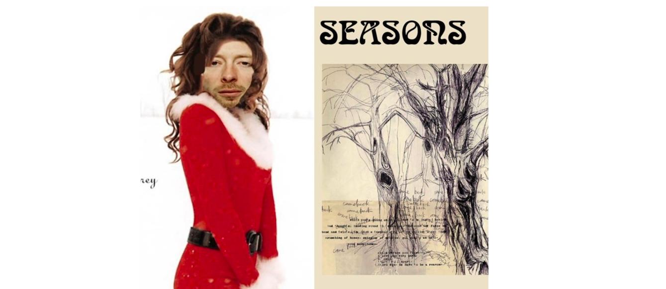 Radiohead привітали фанатів з новорічними святами дивними листівками