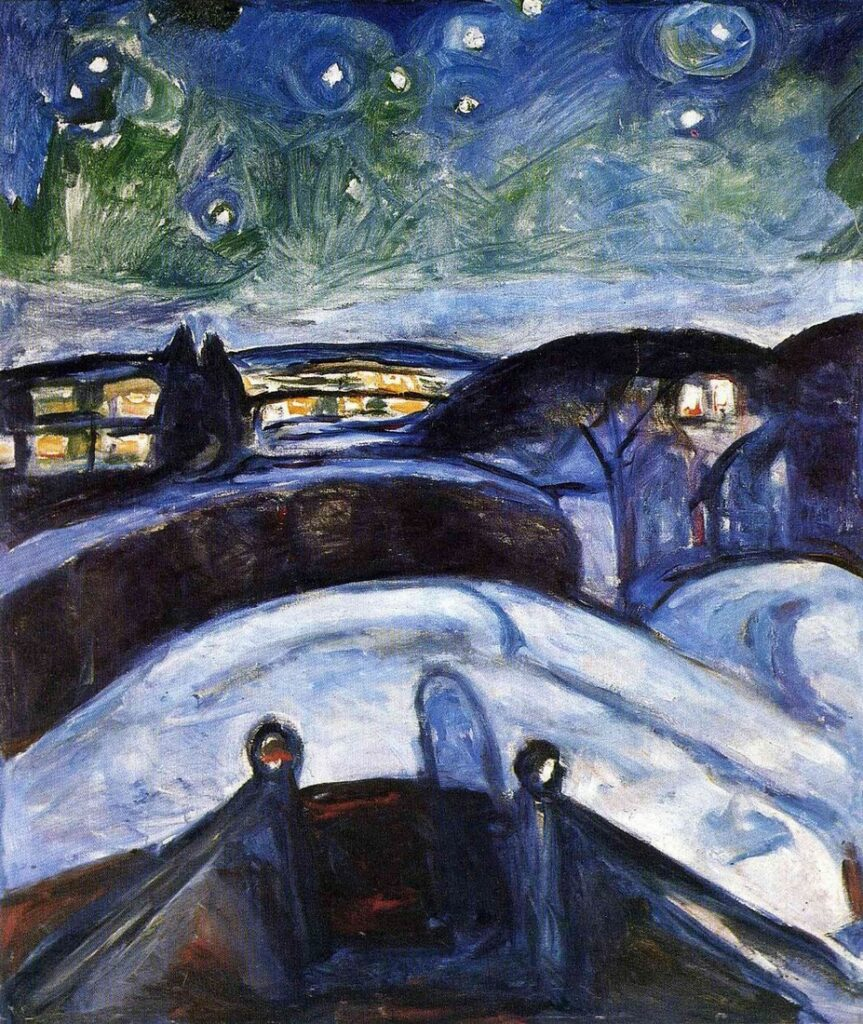 Едвард Мунк, «Зоряна ніч», 1924 ©jyvopys