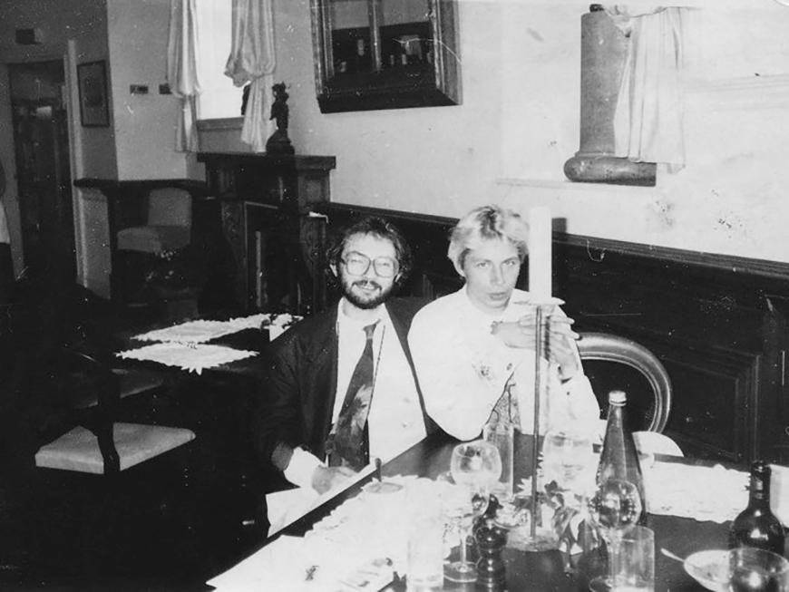 Марат Гельман і Олег Голосій, Москва, 1991. Автор невідомий