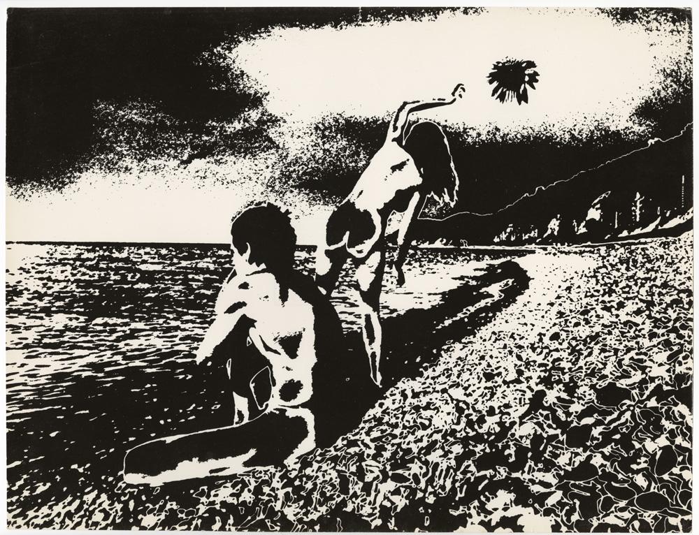 Юрій Рупін, з серії Двоє та море, 1975, срібно-желатиновий друк, соляризація
