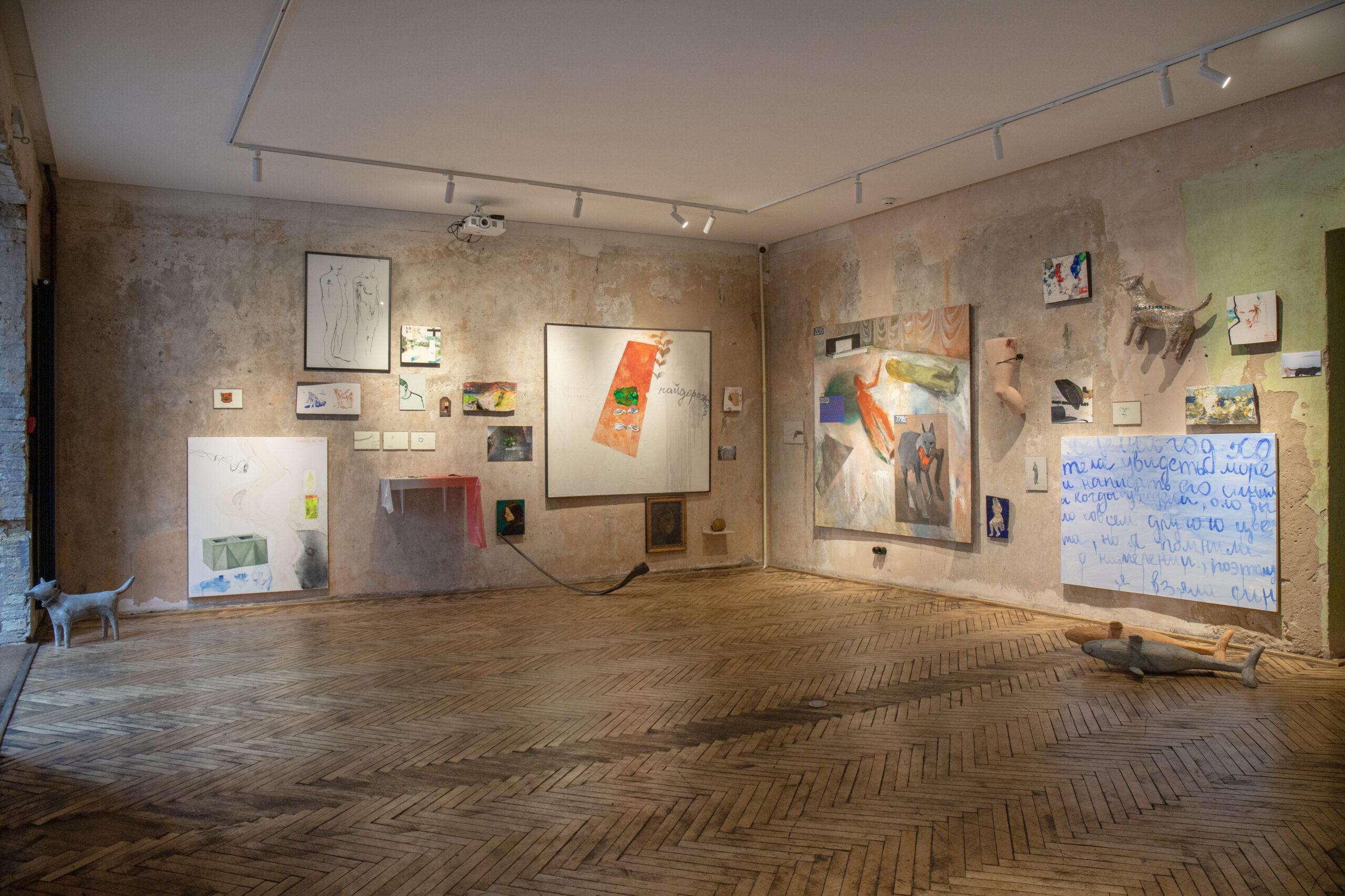 Загальний вид експозиції «Дуже персональна виставка» Каті Бучацької, 2020. Фото Євгена Нікіфорова