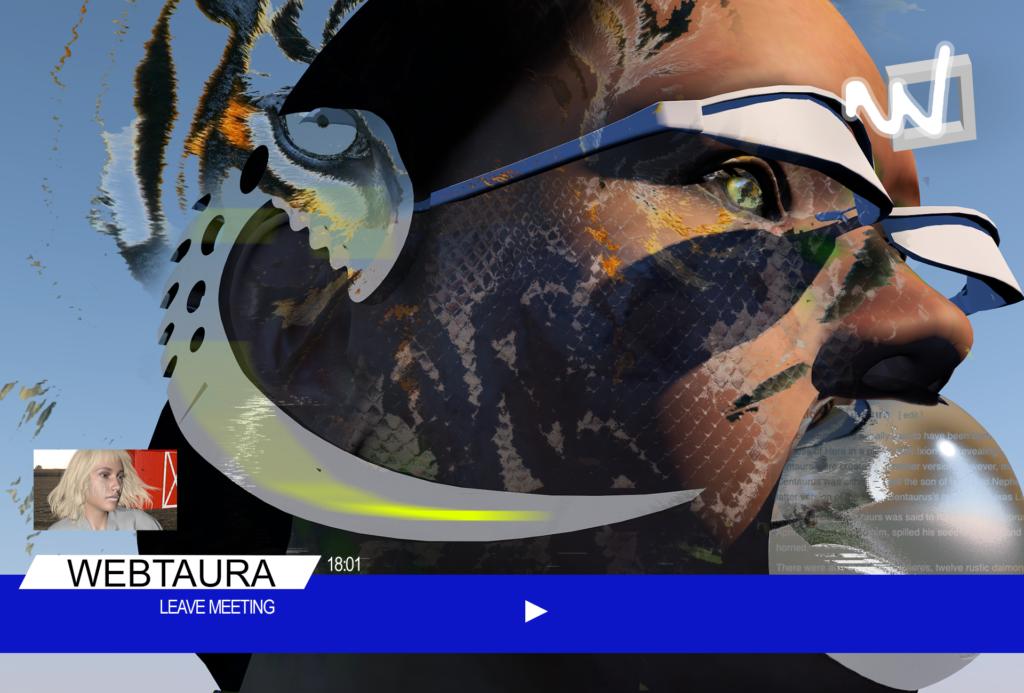 Стоп-кадр з проєкту Webtaura, Сніжани Чернецької